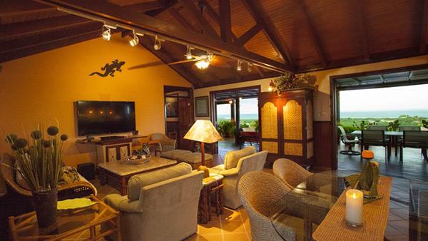the living room inside wesley house