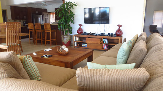 living room in kiki villa