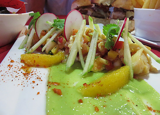 lobster ceviche at cap juluca spice