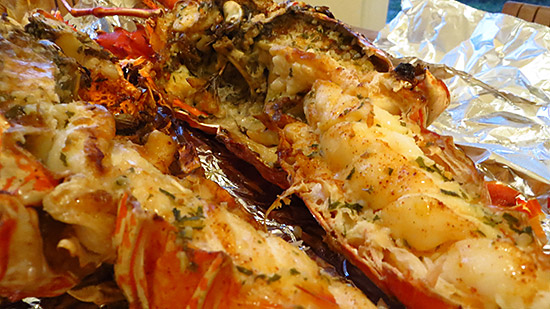 succulent lobster at mikey's in anguilla