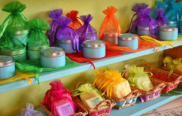 Anguilla made candles, soaps and lotions