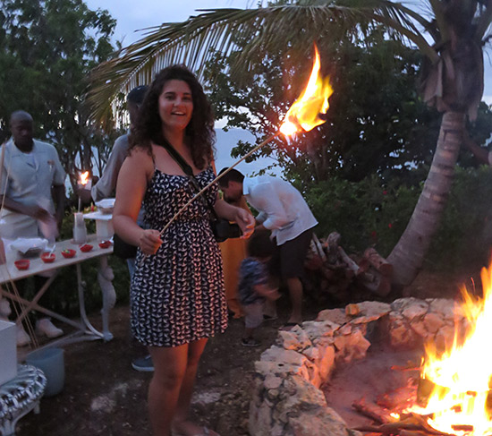 louise's marshmallow catches fire at malliouhana