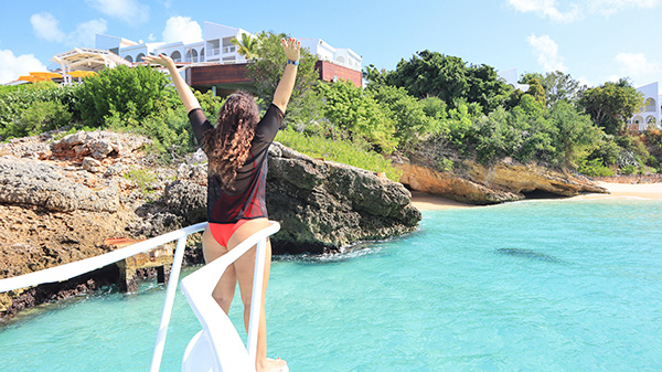 Louise at Meads bay, Anguilla's Rum & Reel Charters