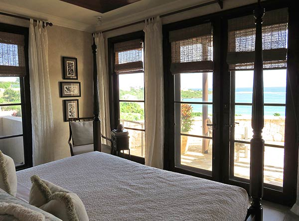 inside the lower master suite at bird of paradise villa