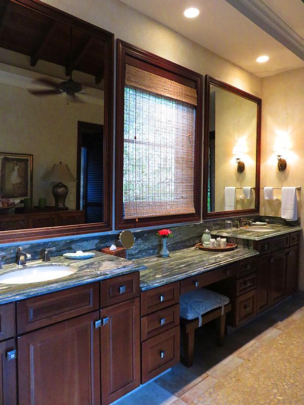master bathroom at bird of paradise villa