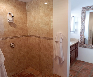 anguilla villas twin palm shower