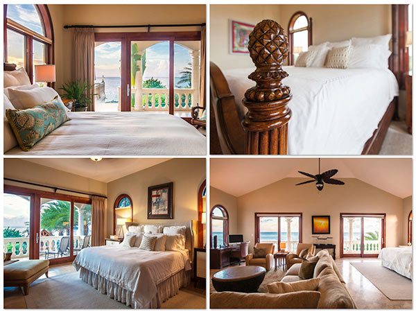 sandcastle villa luxury bedrooms