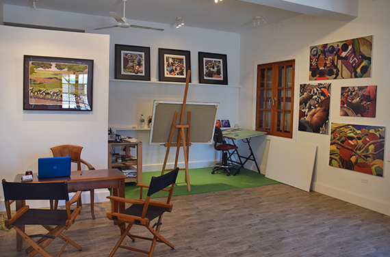 Lynne Bernbaums studio
