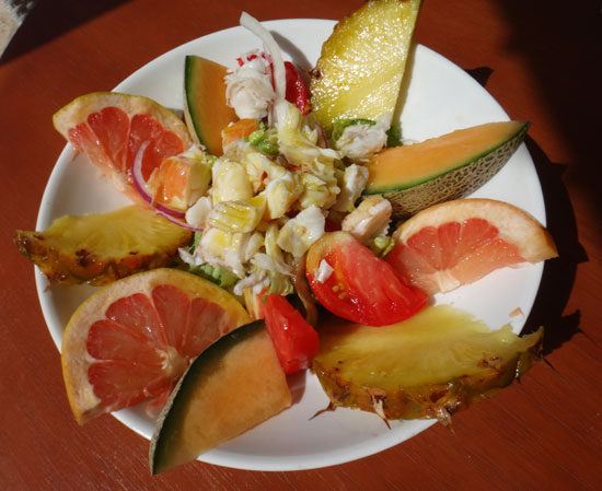 exotic salad with lobster at madeariman