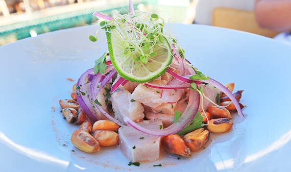Mahi mahi ceviche at Maundays club