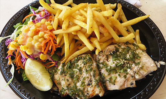 grilled mahi mahi at tropical wave