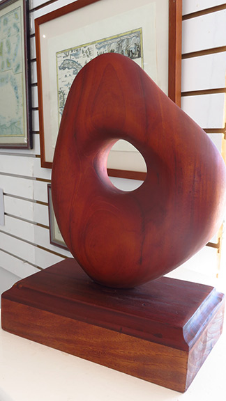 a sulpture out of mahogany by mr. devonish