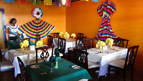 La Collena's Colorful Main Dining Room