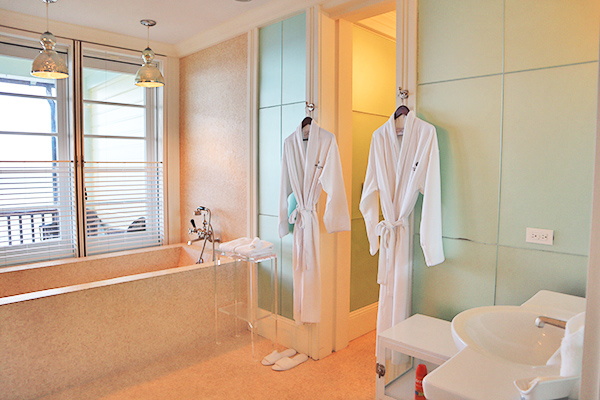 Master Bathroom at Santosha Villa Estate on Long Bay