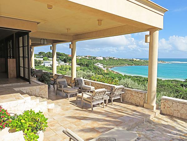 main outdoor terrace at bird of paradise villa