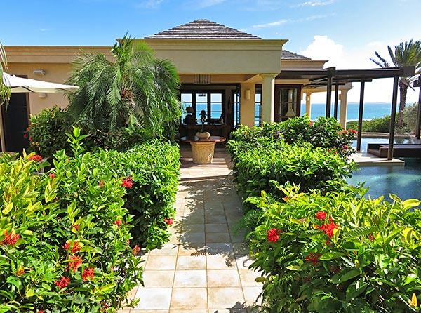 main path to bird of paradise villa