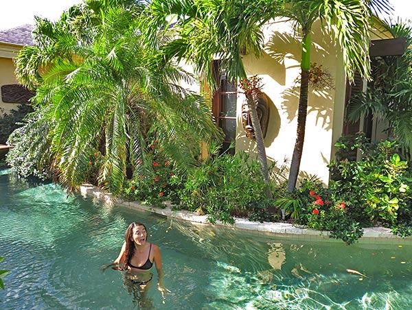 main pool that passes bird of paradise villas master suite