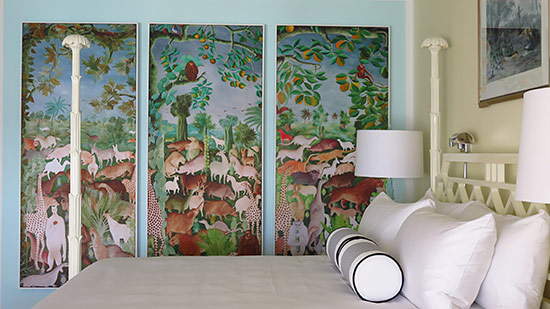 famous haitian art inside malliouhana superior room