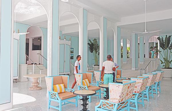 main entrance room of malliouhana