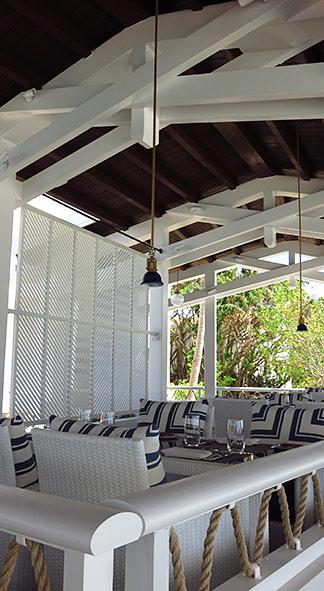seating inside restaurant at malliouhana