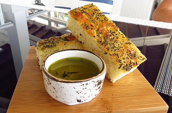 focaccia bread at malliouhana