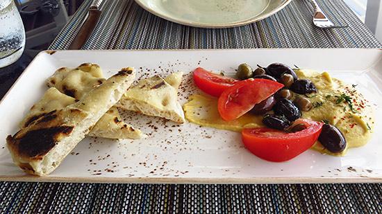 whipped chickpea at malliouhana restaurant