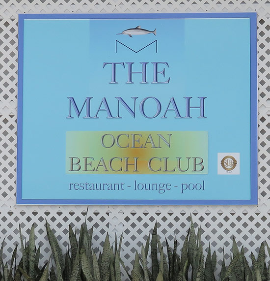 manoah ocean beach club sign