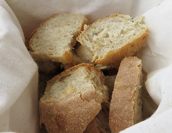 rosemary bread at manoah