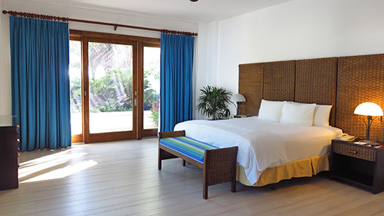 master bedroom inside villa suite