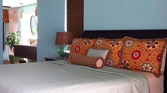 bedroom inside sunset beach house