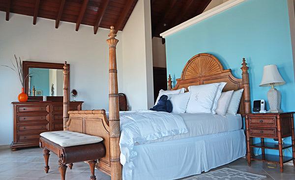 master suite at villa soleil