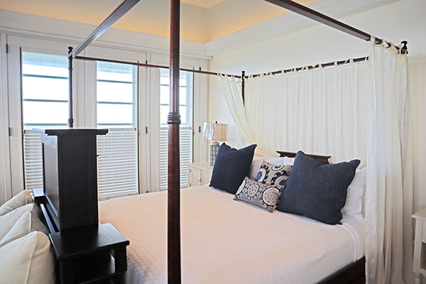 Master Bedroom at Santosha Villa Estate on Long Bay