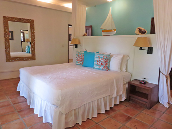 master suite inside beach palm villa at twin palms villas