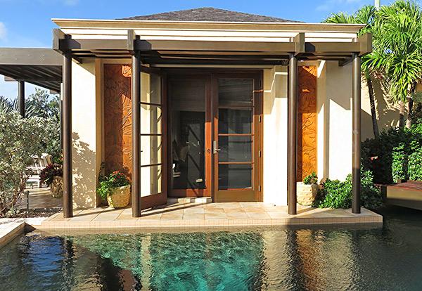 main pool access from master at bird of paradise luxury villa