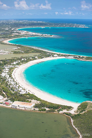 corail helicopter tour over maundays bay and cove bay anguilla
