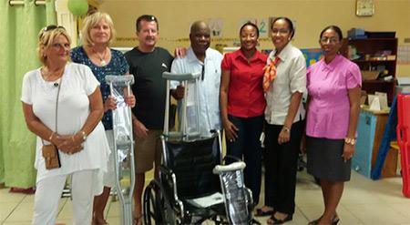 rotary club anguilla donating medical supplies