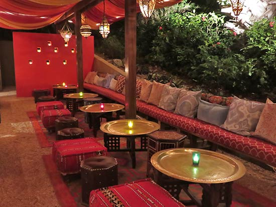 inside meze lounge