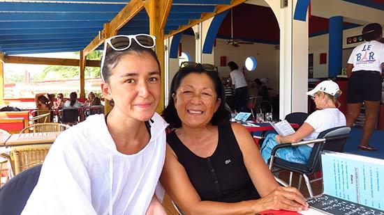 mom and yuki at le bar