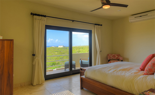 master bedroom at moondance villa anguilla