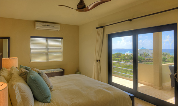 view from the first bedroom at moondance villa