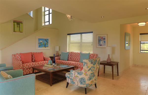 interior living at moondance villa