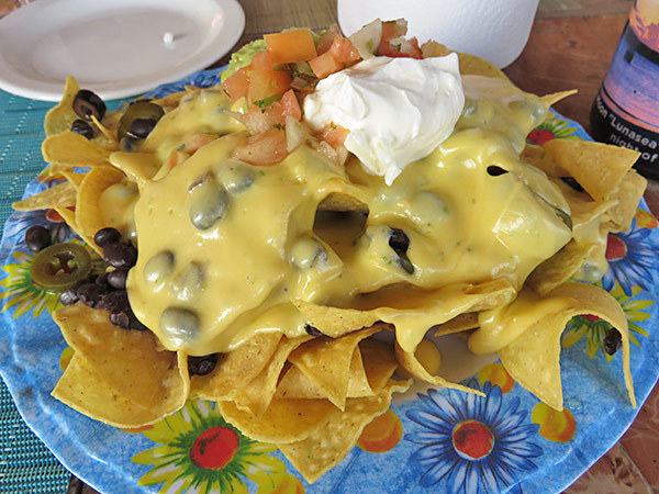 fully loaded nachos at elvis