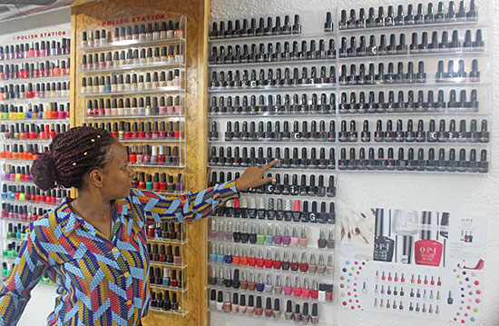 polish selection at nails r hair