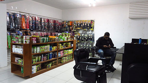 store section of salon