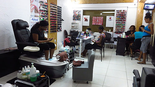 pedicure section of nails r hair