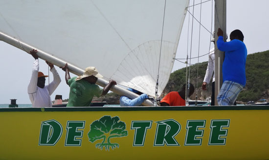 de tree racing boat boom all set up and ready to go