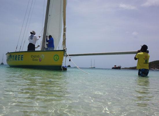 de tree racing boat boom