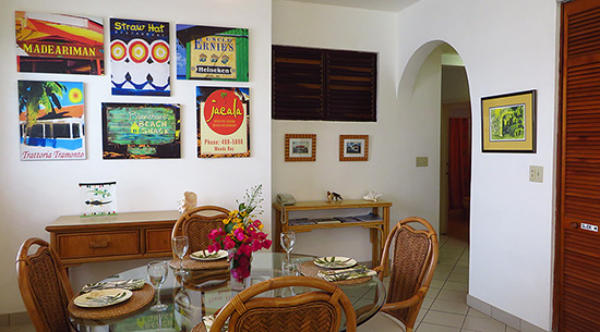 dining room at carimar suite