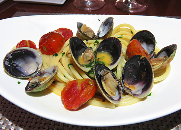 new zealand clam bucatini at the yacht club
