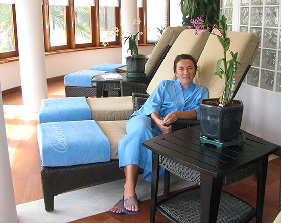 nori inside relaxation room at venus spa